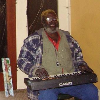 VanBo playing the keyboard