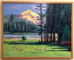 Duck Lake Oil Painting framed by Susan Sternau