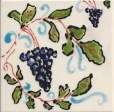 Grapes and Vines Tile by Susan Sternau, holiday art show
