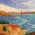Headlands and Bridge Mini Oil by Susan Sternau