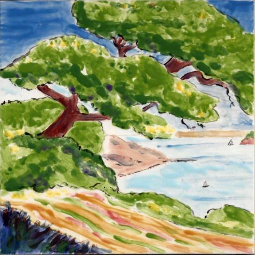 Sausalito View large tile by Susan Sternau