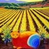 Wine Country Cat 1 oil painting by Susan Sternau