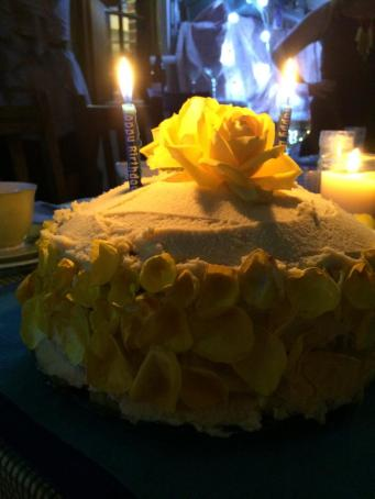 Lemon and white chocolate birthday cake (photo courtesy of Little Train Marketing Solutions)