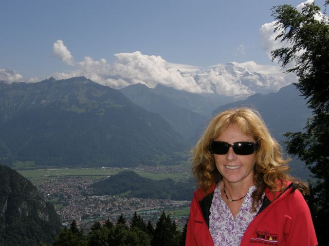 The mother of Venus Adventures against an alpine backdrop