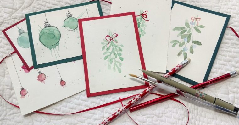 Christmas Watercolor Card- Make-n-Take