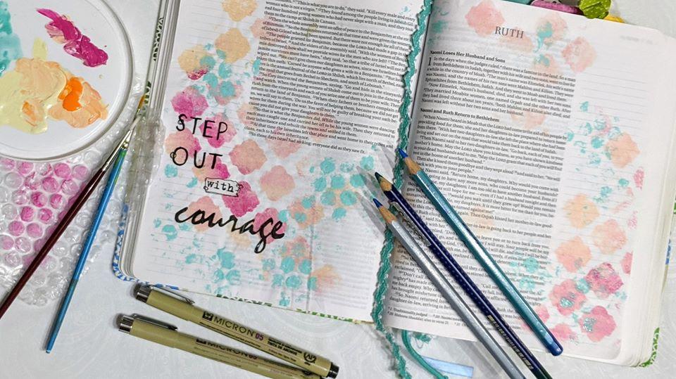 Creative worship with Bible Art Journaling