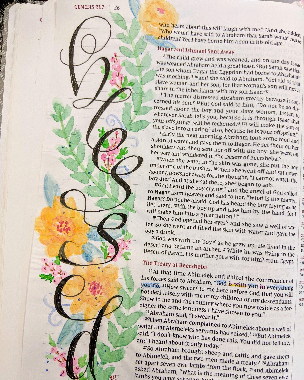 Bible Art Journaling,Genesis 21:22