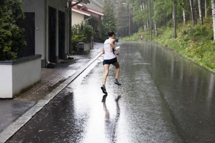Regen wie aus Eimern beim Sprint