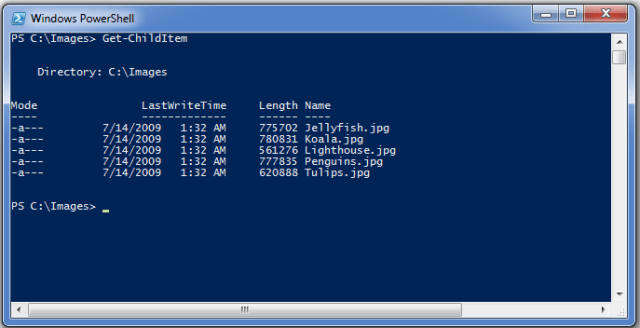 PowerShell Showing Get-ChildItem
