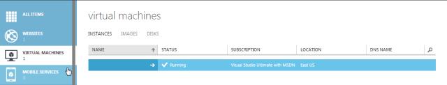 Azure VM is running