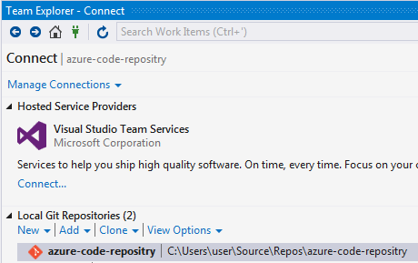 Create Local Git Repository using Visual Studio Step 2