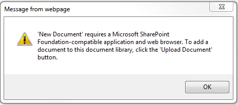IE pop up for new word documents
