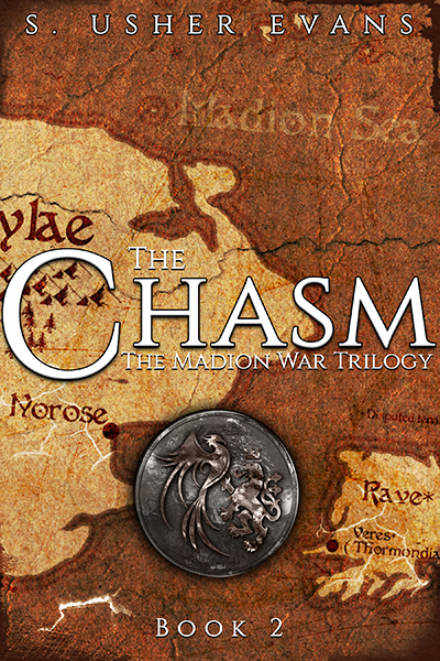 The Chasm, the second book in the Madion War Trilogy, a fantasy romance series available now from Sun's Golden Ray Publishing.