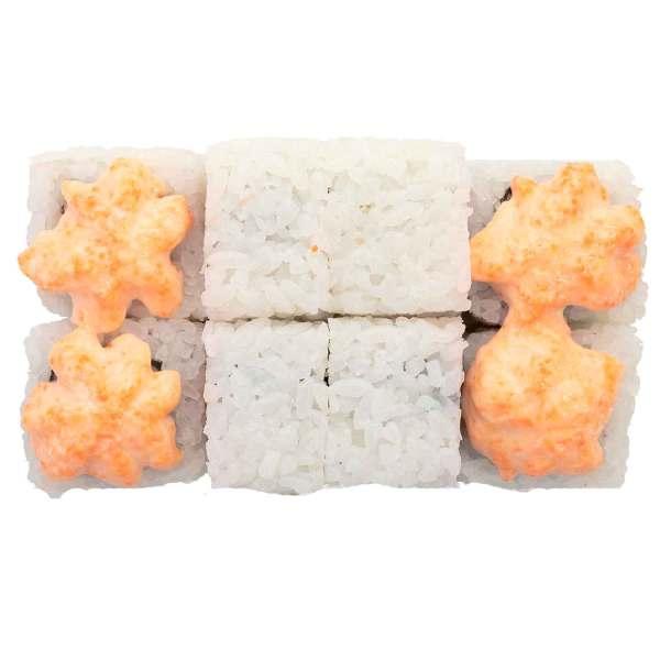 Запеченный ролл Сезам с лососем и сыром моцарелла