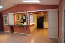 There's the former eat-in kitchen I referenced before. We'll be able to put stools at the counter on both sides
