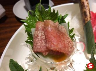 otoro (bluefin fatty tuna belly) sashimi