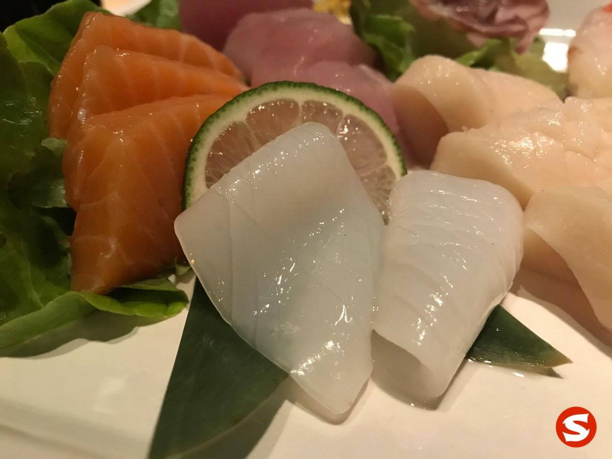 sake (salmon), ika (squid) sashimi