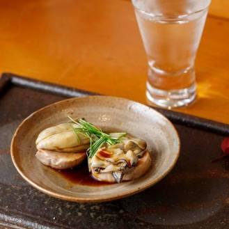 あん肝と茹牡蠣