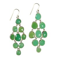 Tara Chandelier Earrings Chrysoprase Silver - Sushilla ...