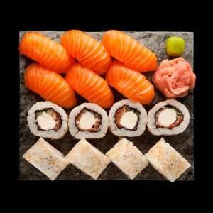 Sake assortii sushi