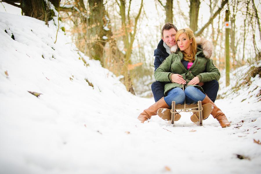 Hochzeitsfotograf Lauenburg  Winterliches Paarshooting
