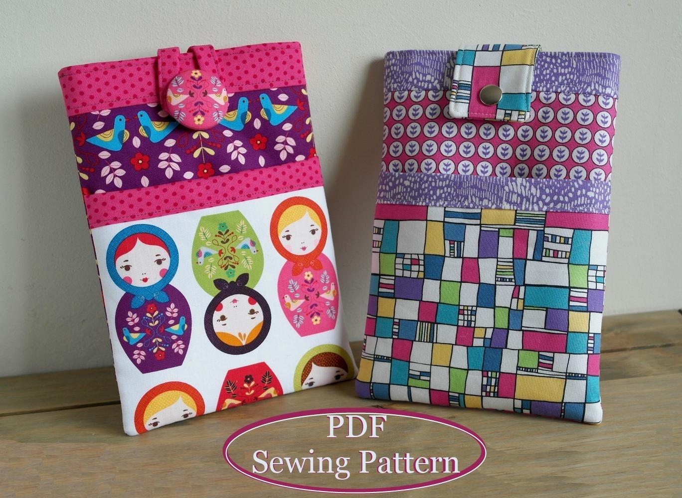 7 inch iPad sleeve sewing pattern  SusieDDesigns Sewing