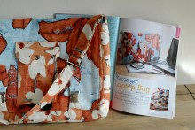Messenger laptop bag sewing project in Sewing World magazine