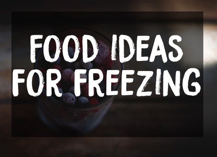 Ideas for Freezing Food
