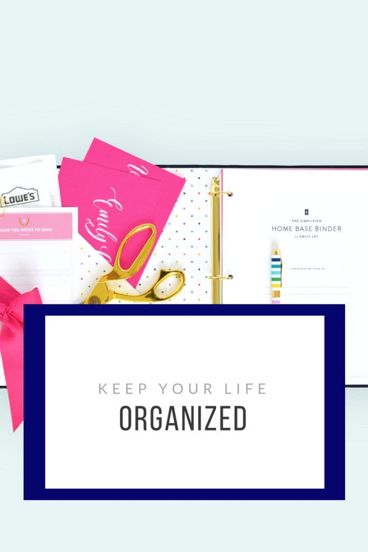 The Organized Home Base Binder