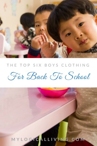 Top Six Boys Clothing Back to School