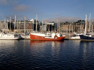 Boat in Oslo Harbor, Norway