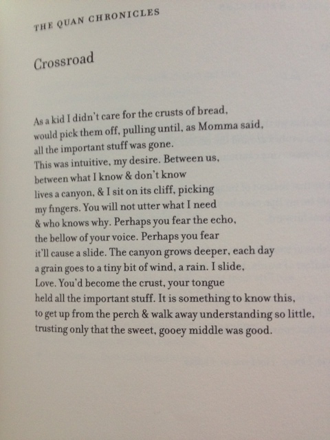 From Lunatic, © Crystal Williams, Michigan State Press, 2002