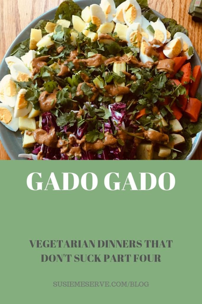 Gado Gado is a delicious and easy vegetarian dinner you can even serve to company!