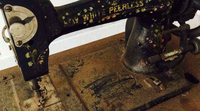 New White Peerless Antique Sewing Machine