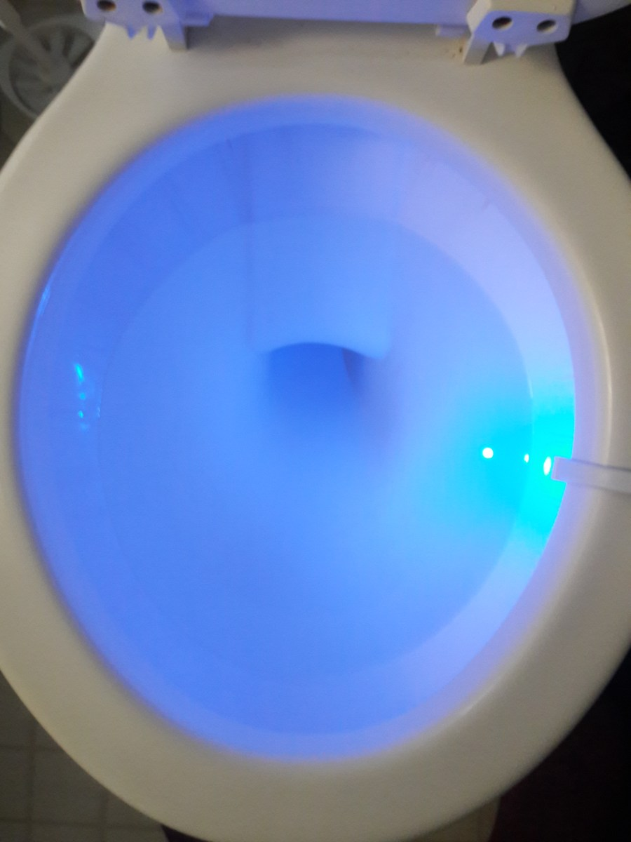 WEBSUN Motion Activated Toilet Night Light 8 Color