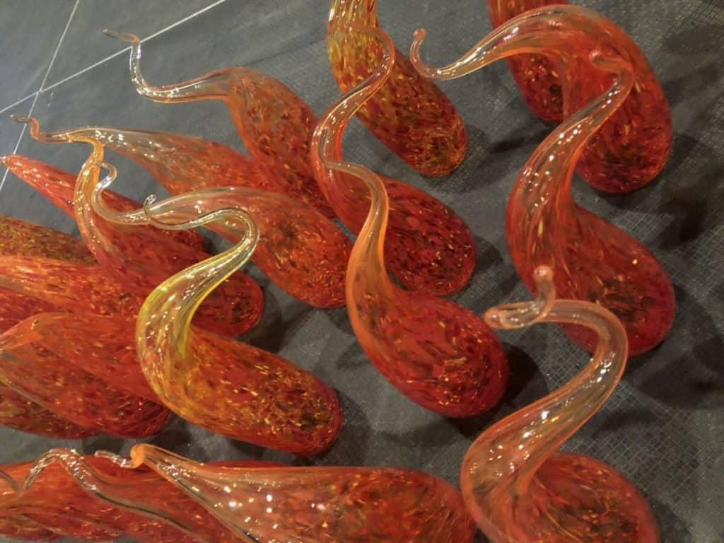 amazing blown glass table centerpieces