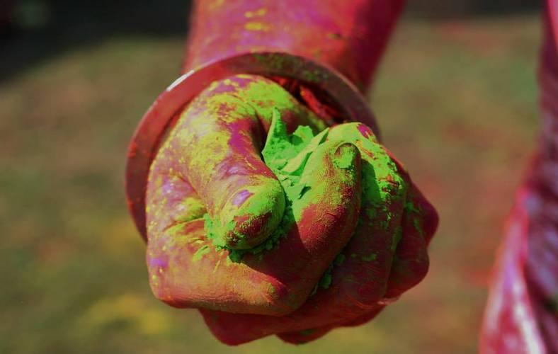 Holi festival con matrimonio indiano 02