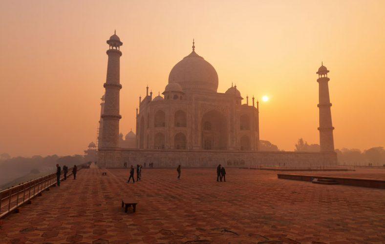 Taj-Mahal-sun-set