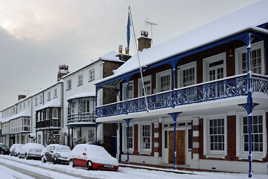 Bognor Regis RAFA Club in the snow