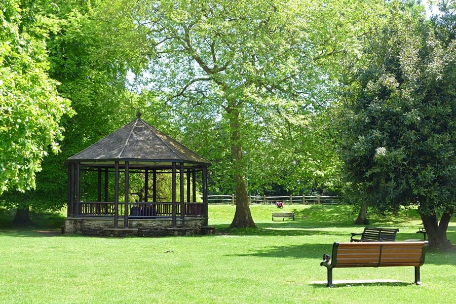The bandstand, Hotham Park, Bognor Regis, West Sussex, England