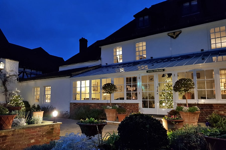 The Spread Eagle at Christmas, Midhurst, West Sussex, England