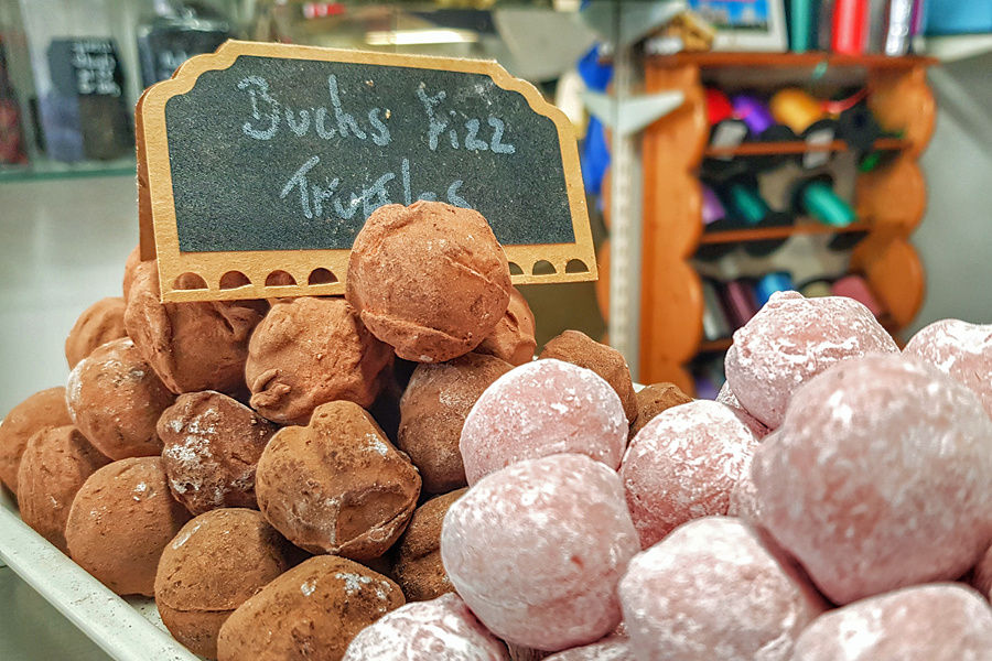 Buck Fizz Truffles from Castle Chocolates, Arundel, West Sussex