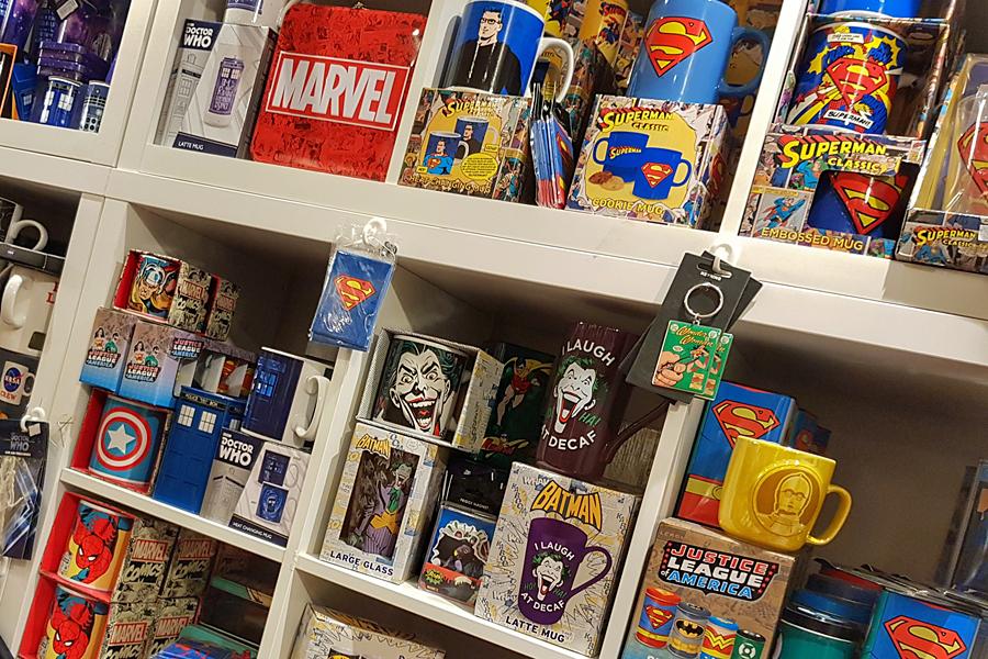 Retro mugs, bags and teapots at AJ's Emporium