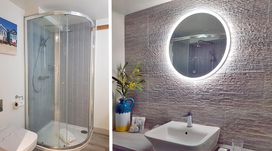 Shower room at the Beach Huts _ Beach UK Holidays