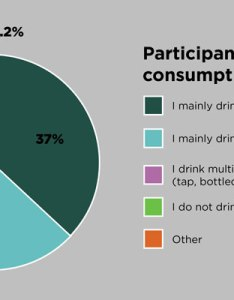 pie chart that outlines survey participants  daily water consumption on campus percent also graduate class uncovers key drinking preferences rh sustainabilityu