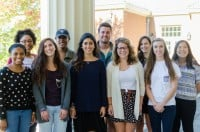 The fall interns for the Office of Sustainability come together for a picture on Monday, October 5th, 2015.