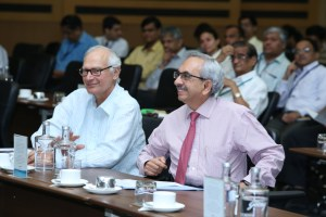 Mr. Jamshyd Godrej and Mr. Nadir Godrej at Waste Management Conclave organised at Godrej Office in Vikhroli