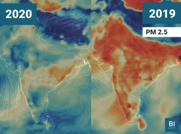 Reduction in PM 2.5 levels cross India