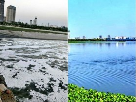 Reduction in pollution of Yamuna River in Delhi