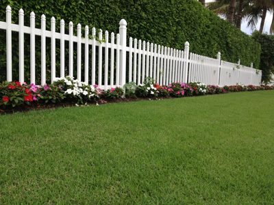 Lawn with fence
